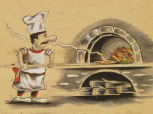 Holz Pizzaofen